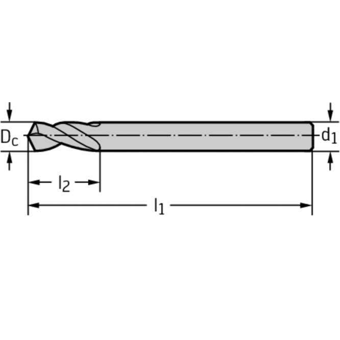 Burghie de centrare NC 120° din HSS A1114S-4