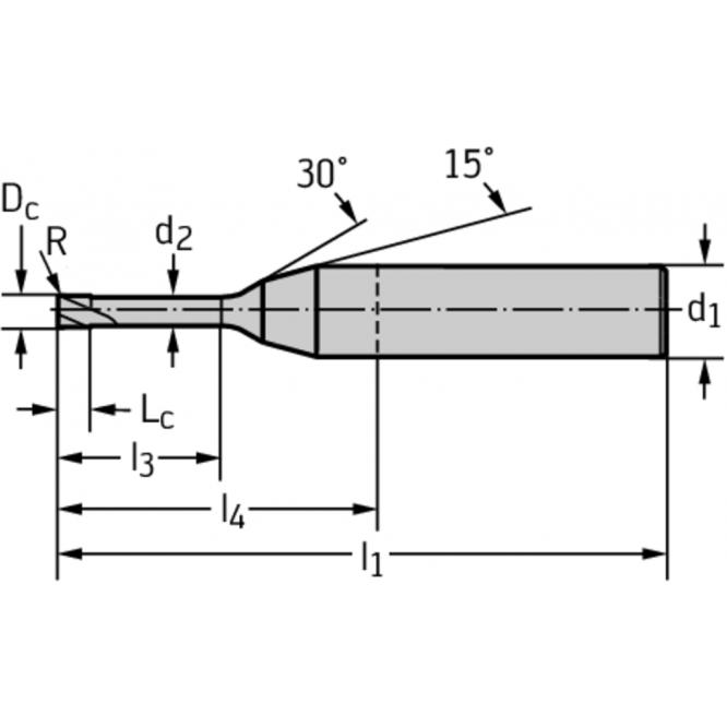 Freze cilindro-frontale din carbură metalică H4044918-3-15