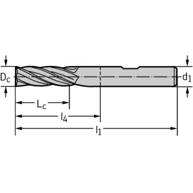 Freze cilindro-frontale/de canelare din carbură metalică MC232-10.0W4B-WJ30ED