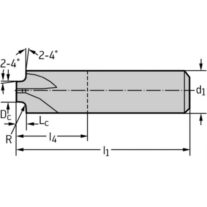 Freze profilate sfert de cerc din carbură metalică MC503-05.0A4B300-WJ30TF