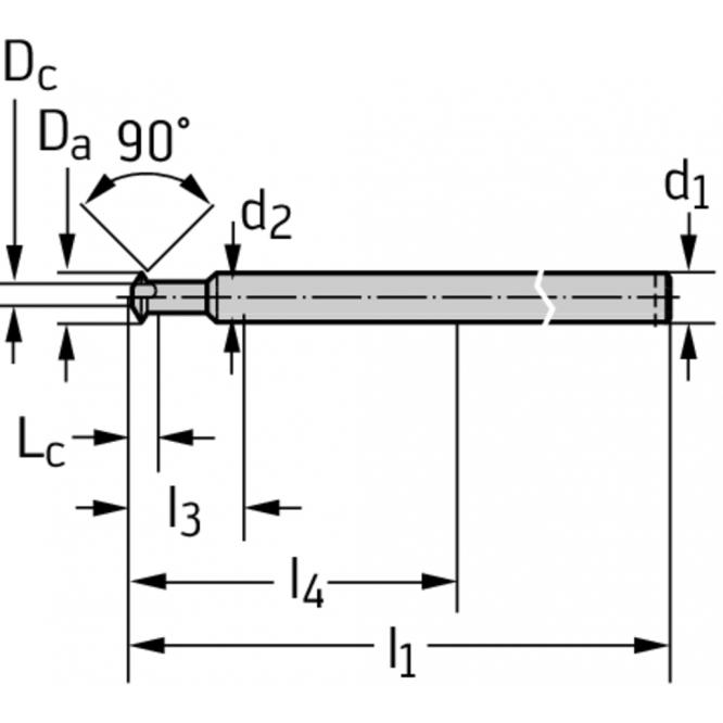 Freze de debavurare faţă şi spate din carbură metalică MC504-10.0A6L-WJ30TF