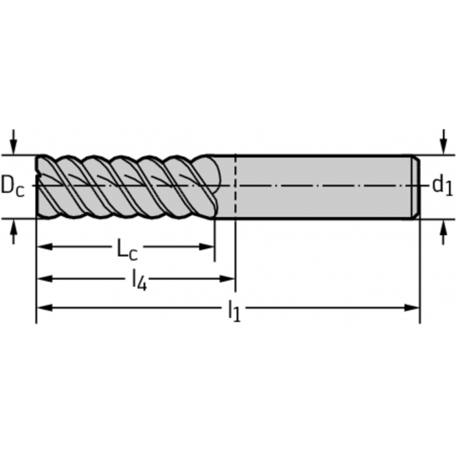 Freze cilindro-frontale din carbură metalică AH3021138-5/8
