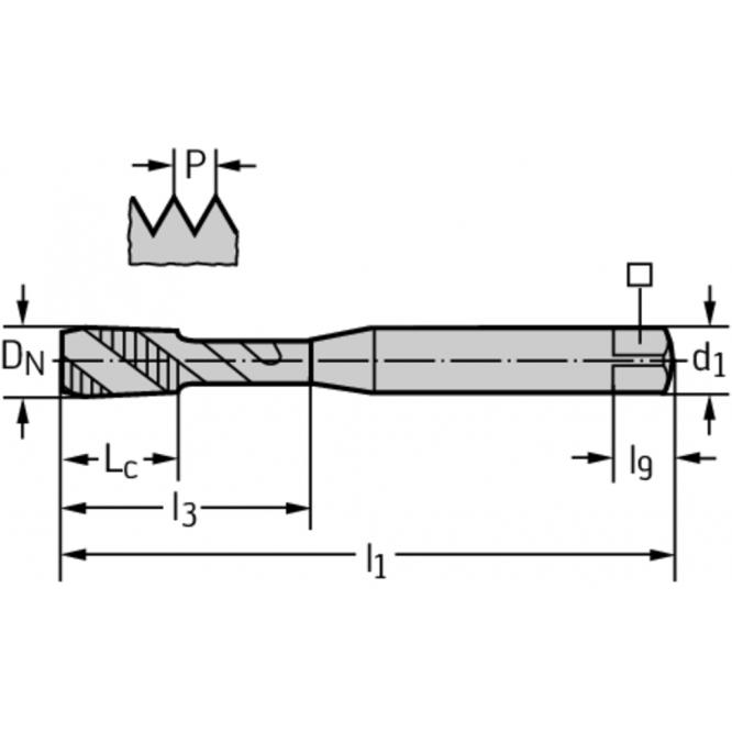 Tarozi din HSS-E pentru maşini TC115-M10-C0-WY80FC