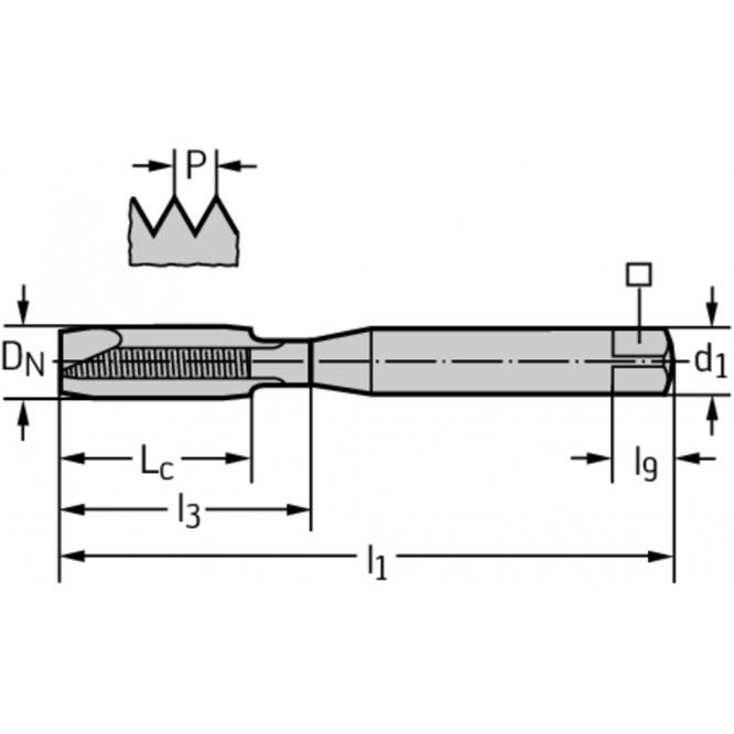 Tarozi din HSS-E pentru maşini TC216-M10-C0-WY80FC