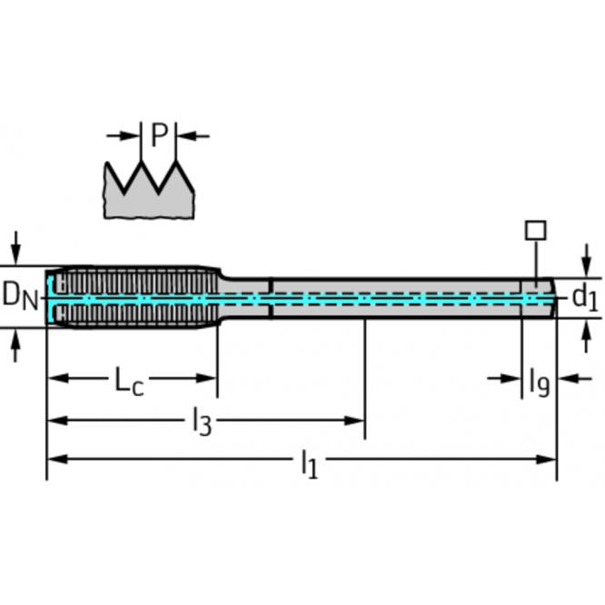 Tarozi de deformare din HSS-E-PM pentru maşini TC420-M24-L2-WW60BA