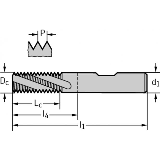 Freze de filetat din carbură metalică TC611-M10-W0-WJ30RC