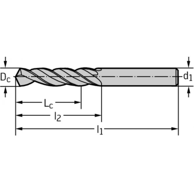Burghie elicoidale din HSS DA110-08-10.000U0-WZ90AJ