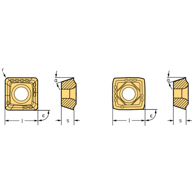 Pătrate P484 . P4841P-2R-E57 WSP45