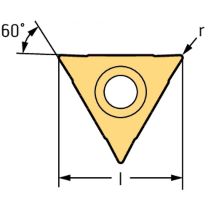 Plăcuţe de frezare filete, triunghiulare, 60° - M, MF, UNC, UNF, UN P26300-1102-D61 WSM37S