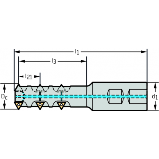 Freze de filetat cu plăcuţe amovibile T2711-35-W32-3-11-3-27