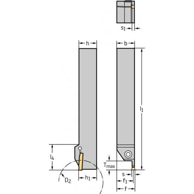 Sculă cu coadă – canelare radială G1011.2525R-3T21GX24