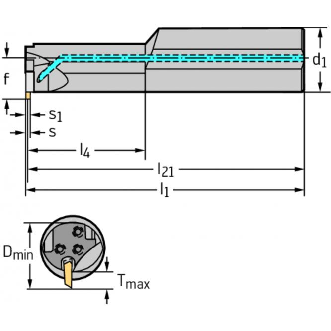 Bară pentru strunjire interioară – canelare interioară NCAI20-2525R-GX09-2